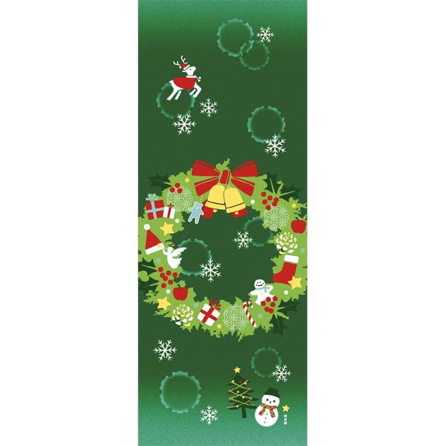 絵てぬぐい クリスマスリース