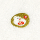 干支フェイスタオル 祝丑と椿