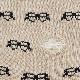 てぬぐい柄の靴下 黒ぶちメガネ(サイズ:23〜25cm)