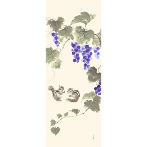 絵てぬぐい シマリスと秋の園