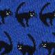 てぬぐい柄の靴下 黒ねこ(サイズ:23〜25cm)