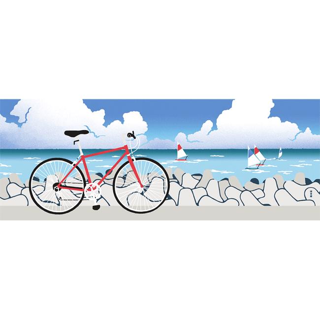 絵てぬぐい 夏色サイクリング