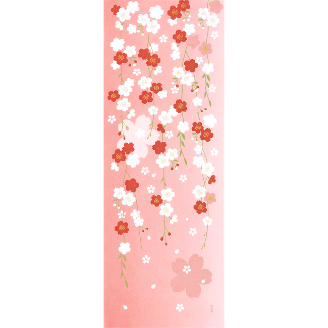 絵てぬぐい 枝垂れ桜の夢