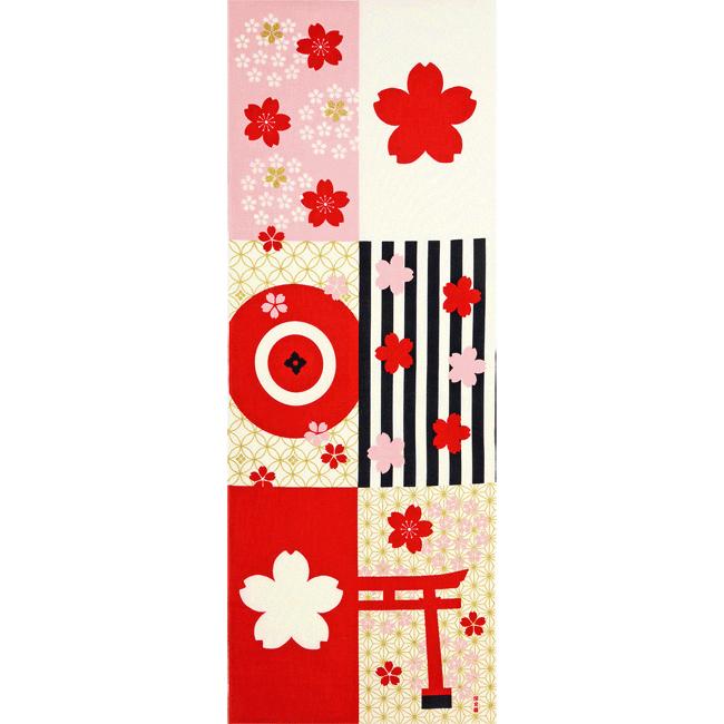 絵てぬぐい 和モダン桜