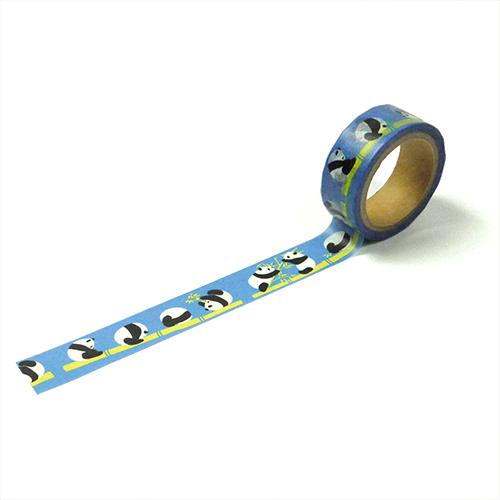 マスキングテープ でんぐりパンダ ブルー