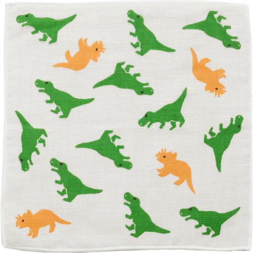 キッズタオルハンカチ わんぱく恐竜