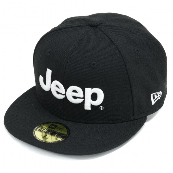 オフィシャル Jeep X NEW ERA59 フラットバイザーキャップ 【ブラック】※要選択