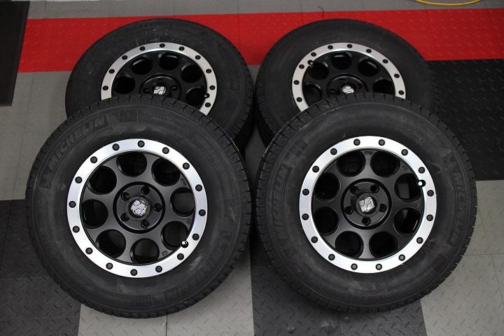 08−12y ジープ チェロキー 新品 16インチ XJ03 ホイール & 新品 ミシュラン スタッドレスタイヤ 4本セット
