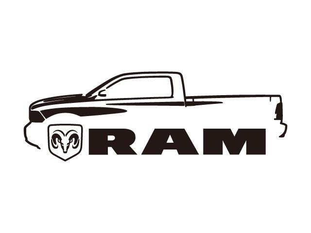 【ステッカー】 汎用 ラムトラック 車両デザインタイプ ロゴ