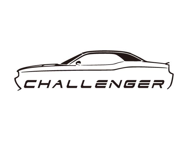 【ステッカー】 汎用 チャレンジャー 車両デザインタイプ ロゴ