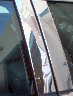 07y− ダッジ アベンジャー ピラーポストカバー 4PCセット 【ステンレスクローム】