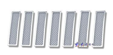 08−12y ジープ チェロキー フロント グリル メッシュインサート 【ステンレス】