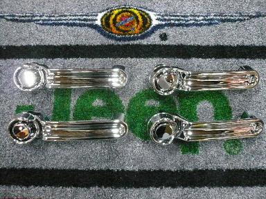 08−12y ジープ チェロキー ドア ハンドルノブ 1台分 交換セット 【クローム】