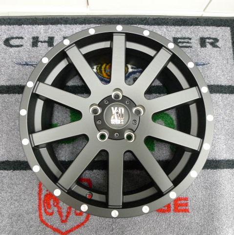 08−12y ジープ チェロキー 17インチ ホイール 【マットブラック】【KMC・HEIST】 ※1本単価