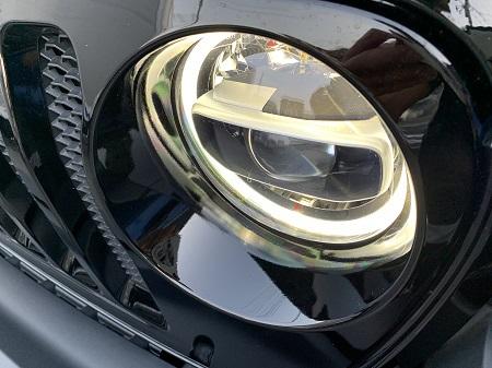 18y- ジ−プ ラングラー 純正 LEDヘッドライト スイッチ付き イカリング デイライト機能付き
