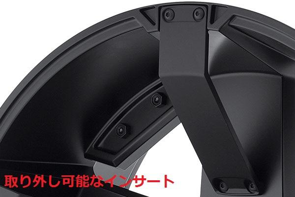 06−10y ジープ コマンダー 17インチ ホイール 【マットブラック/KMC・ROCKSTAR�】※1本単価