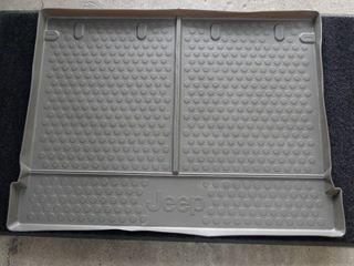 06−10y ジープ コマンダー 純正 カーゴトレー ダークカーキ色【Jeep ロゴ入り】