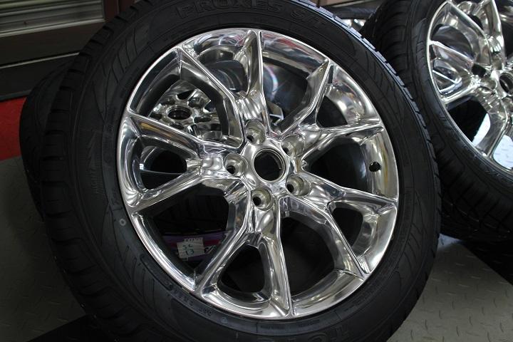 【限定1セット特価】11y− ダッジ デュランゴ 20インチ 新品 TOYO タイヤ & 新車外し サミット 純正 ホイール 4本セット 【ポリッシュ】※要選択
