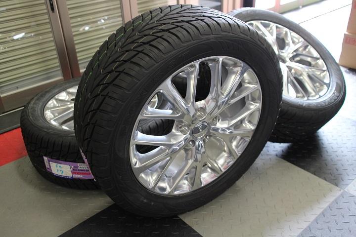 【限定1セット特価】11y− ダッジ デュランゴ 20インチ 新品 TOYO タイヤ & 新車外し シタデル 純正 ホイール 4本セット 【ポリッシュ】※要選択