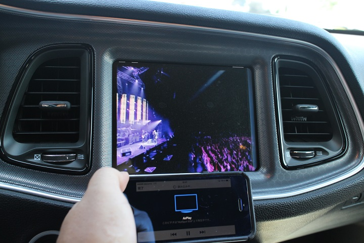 15y− ダッジ チャレンジャー 純正モニター用 iPhone 映像音声入力 キット