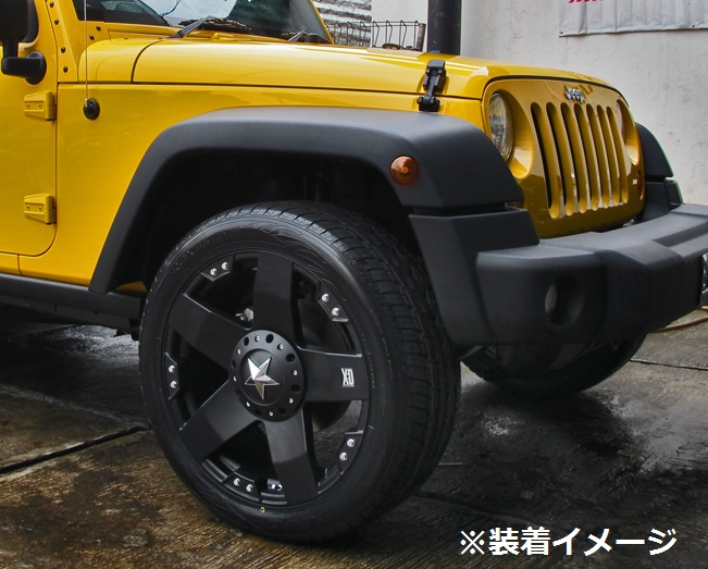 06−10y ジープ コマンダー 22インチ ホイール 【マットブラック/KMC・ROCKSTAR】