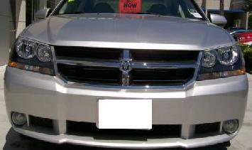 07y− ダッジ アベンジャー 本国RT仕様 ヘッドライト左右セット 【ブラック】 ※日本D車は配線加工必要