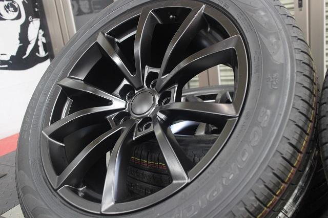 【限定1セット特価】 11y− ジープ グランドチェロキー 20インチ トラックホークデザイン 艶消しブラック ホイール&新品タイヤ 4本セット