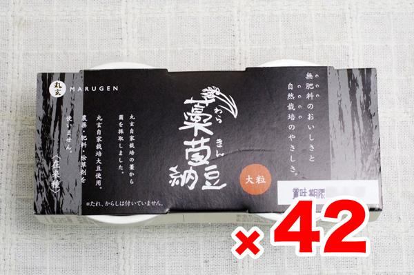 【無肥料・自然栽培】藁菌(わらきん)納豆35g×2カップ×42個【製造元直送】【送料込】