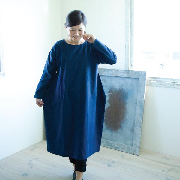 コットンリネンワンピース【メール便不可】  -NP1192