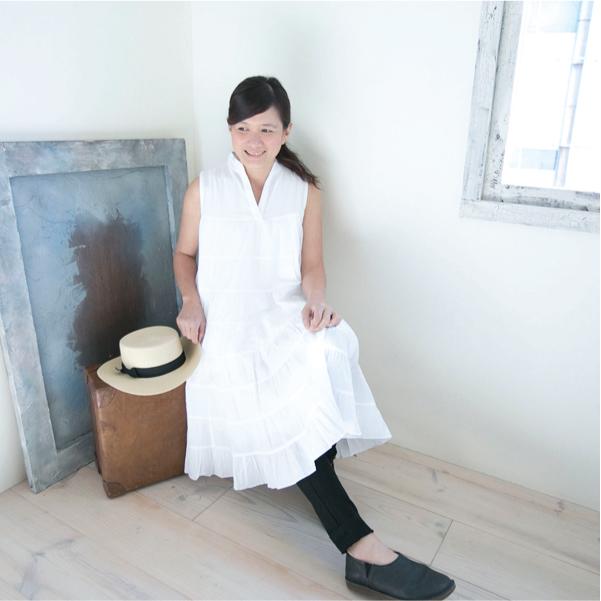 コットンノースリーブワンピース【メール便可】  -NP1057