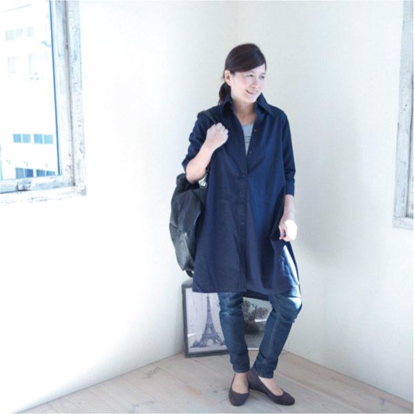 シャツワンピース【メール便可】  -NP1056