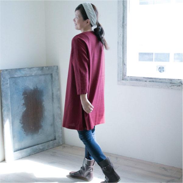 ボートネックワンピース【メール便可】  -NP1036
