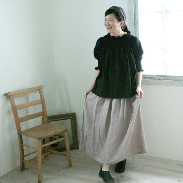 ギャザースカート【メール便不可】  -ST0337