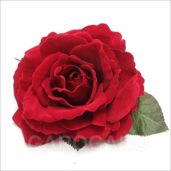 ベルベットのバラ Fiona(フィオナ) 赤 [フラメンコ用]