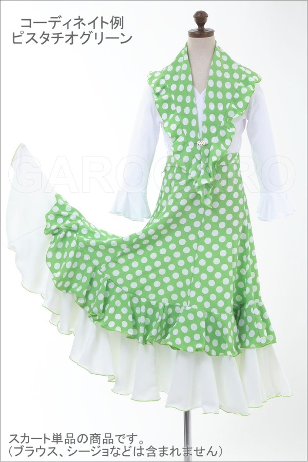 [10歳用]お子様用スカートとシージョのセット 水玉 Primavera (プリマベーラ) [フラメンコ用][スペイン直輸入][送料無料]