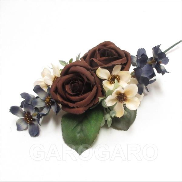 【発表会におすすめ】花のティアラ Moca(モカ) ブラウン系[フラメンコ用]