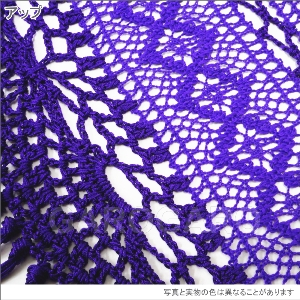 レースとかぎ編みのシージョ Valentina (ヴァレンティーナ) 紫 [フラメンコ用] [スペイン直輸入] [送料無料] [おまかせメール便可]