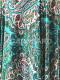フレアスカート Aire (アイレ) ペーズリー柄 グリーン系 [フラメンコ用][スペイン直輸入][送料無料]