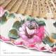 ペイントアバニコ Virgen(ヴィルヘン) (22.5cm・片面張り・透かし彫りあり) 色:ナチュラルXピンク系 [小さい][フラメンコ用][スペイン直輸入][メール便]