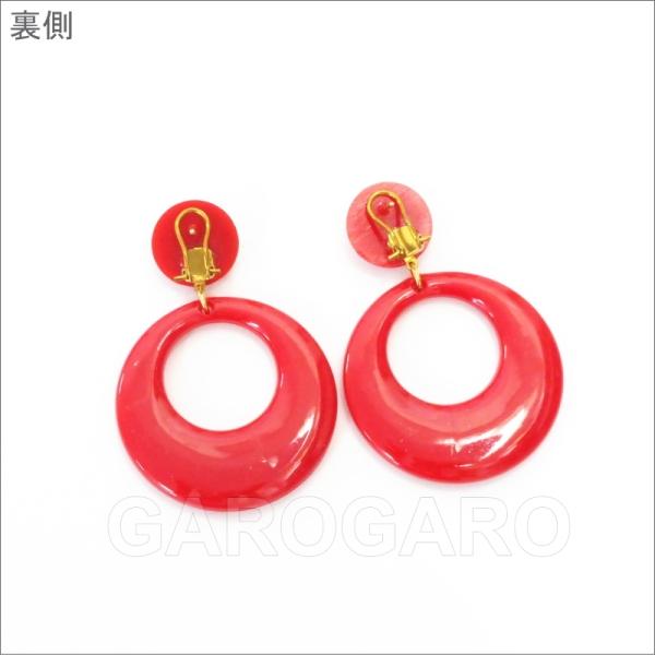 イヤリング (ピアス) 輪 (一重) プラスチック Mediano[メディアノ][4.4cm][フラメンコ用] [スペイン直輸入] [おまかせメール便可]