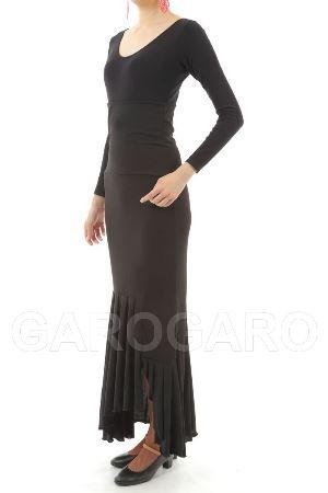 スカート Tablas Cintura Movil (タブラス (新モデル) ) 黒 [フラメンコ用] [スペイン直輸入] [送料無料]
