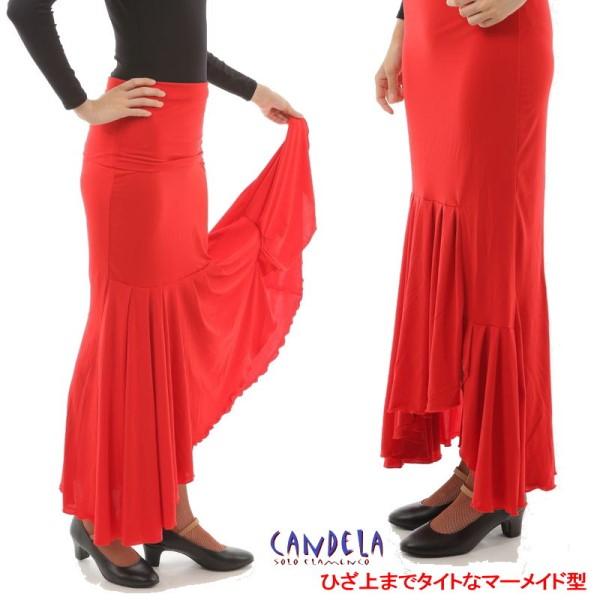 スカート Tablas Cintura Movil (タブラス (新モデル) ) 赤 [フラメンコ用] [スペイン直輸入] [送料無料]