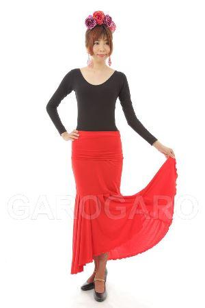 スカート Tablas Cintura Movil (タブラス (新モデル) ) 赤 [フラメンコ用][スペイン直輸入][送料無料]