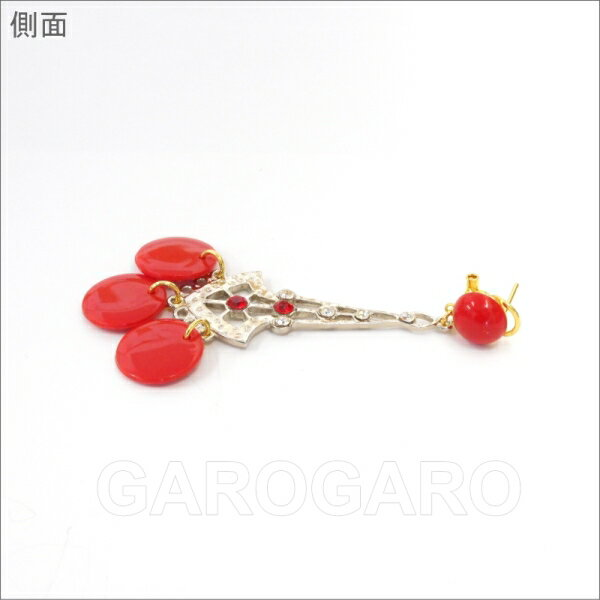 ラインストーンのイヤリング (ピアス) Lucecro [ルセロ] 赤 [フラメンコ用] [スペイン直輸入] [おまかせメール便可]
