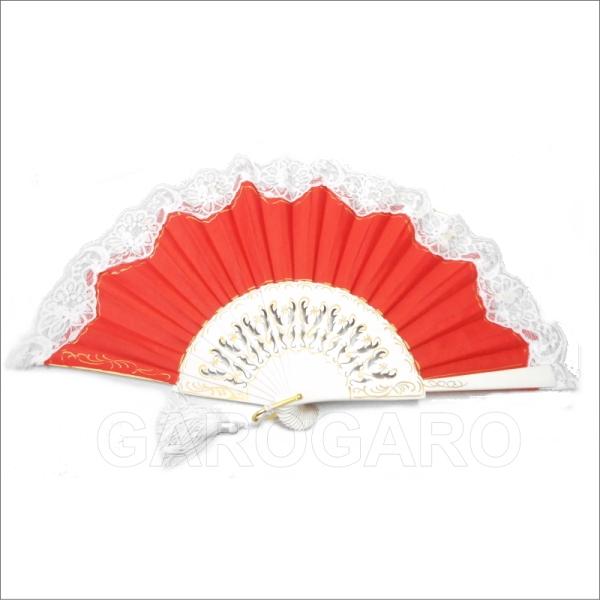 レースのショートアバニコ Bicolor ([ビコロール) (24cm | 片面張り | 透かし彫りあり) [小さい] [フラメンコ用] [スペイン直輸入] [おまかせメール便可]