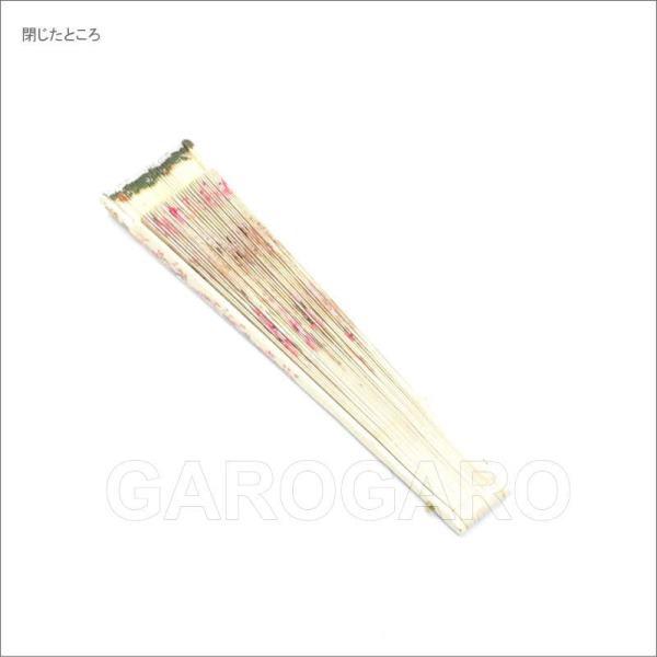 [わけあり品] バラ模様の小さな白いペイントアバニコ (22.5cm | 片面張り | 透かし彫りあり) [小さい] [フラメンコ用] [スペイン直輸入] [おまかせメール便可]