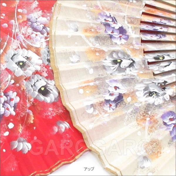 27cm花柄のペイントアバニコ  (27.0cm・片面張り) [小さい] [フラメンコ用] [スペイン直輸入] [メール便]