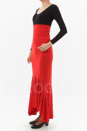 [わけあり品] スカート Tablas Cintura Movil (タブラス (新モデル) ) 赤 [フラメンコ用] [スペイン直輸入]
