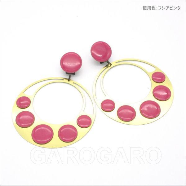 メタルのイヤリング(ピアス) Lunares(ルナーレス) ピンク・パープル系[フラメンコ用] [スペイン直輸入] [メール便]