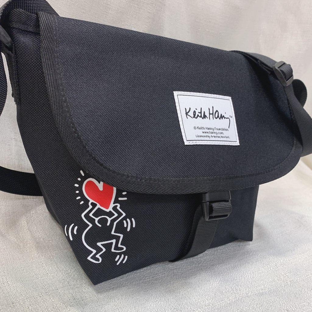 キースへリング Keith Haring ショルダーバッグ ミニショルダー かぶせショルダー 人気 おしゃれ かわいい かっこいい ブランド 黒 ロゴ 斜め掛け